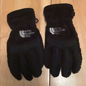 Black North Face Osito Etip Gloves Girls